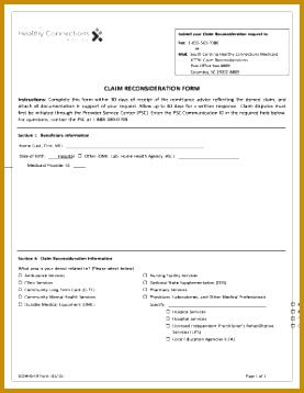 6 1500 Claim form Template | FabTemplatez