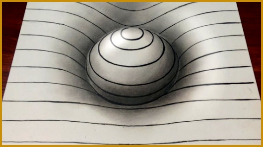 Basic 3D Drawing Drawing Easy 3D Sphere With Lines Youtube 297530