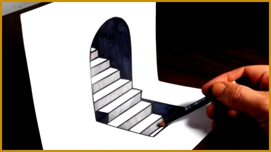 Easy 3D Drawings How To Draw 3D Steps Easy Trick Art Youtube 297530