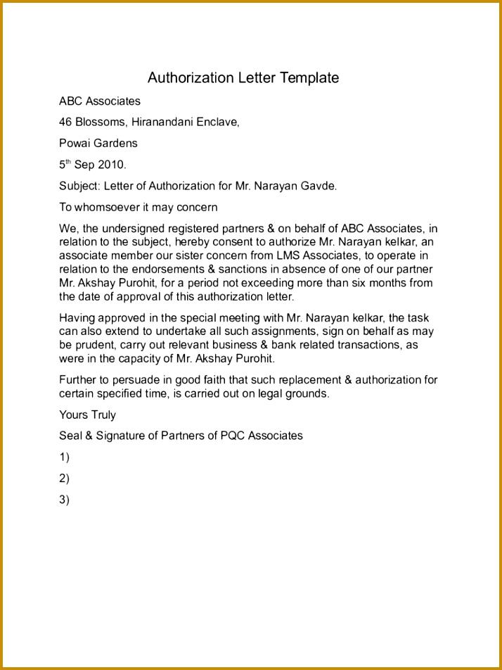 Rd Party Authorization Form Template  Fabtemplatez