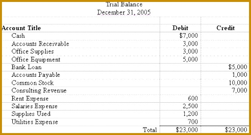 Accounting Trial Balance Example and Financial Statement Preparation 276511
