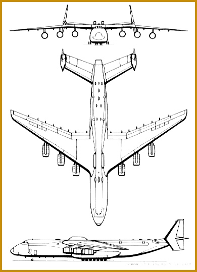 7 Airplane Drawing Template