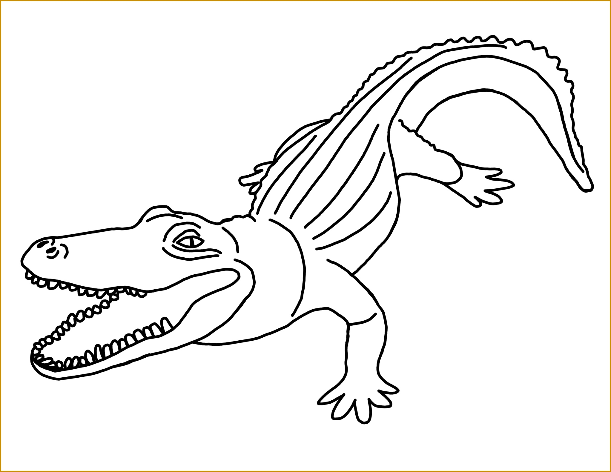 printable alligator coloring pages for kids Alligator Coloring Pages Printable 15812046