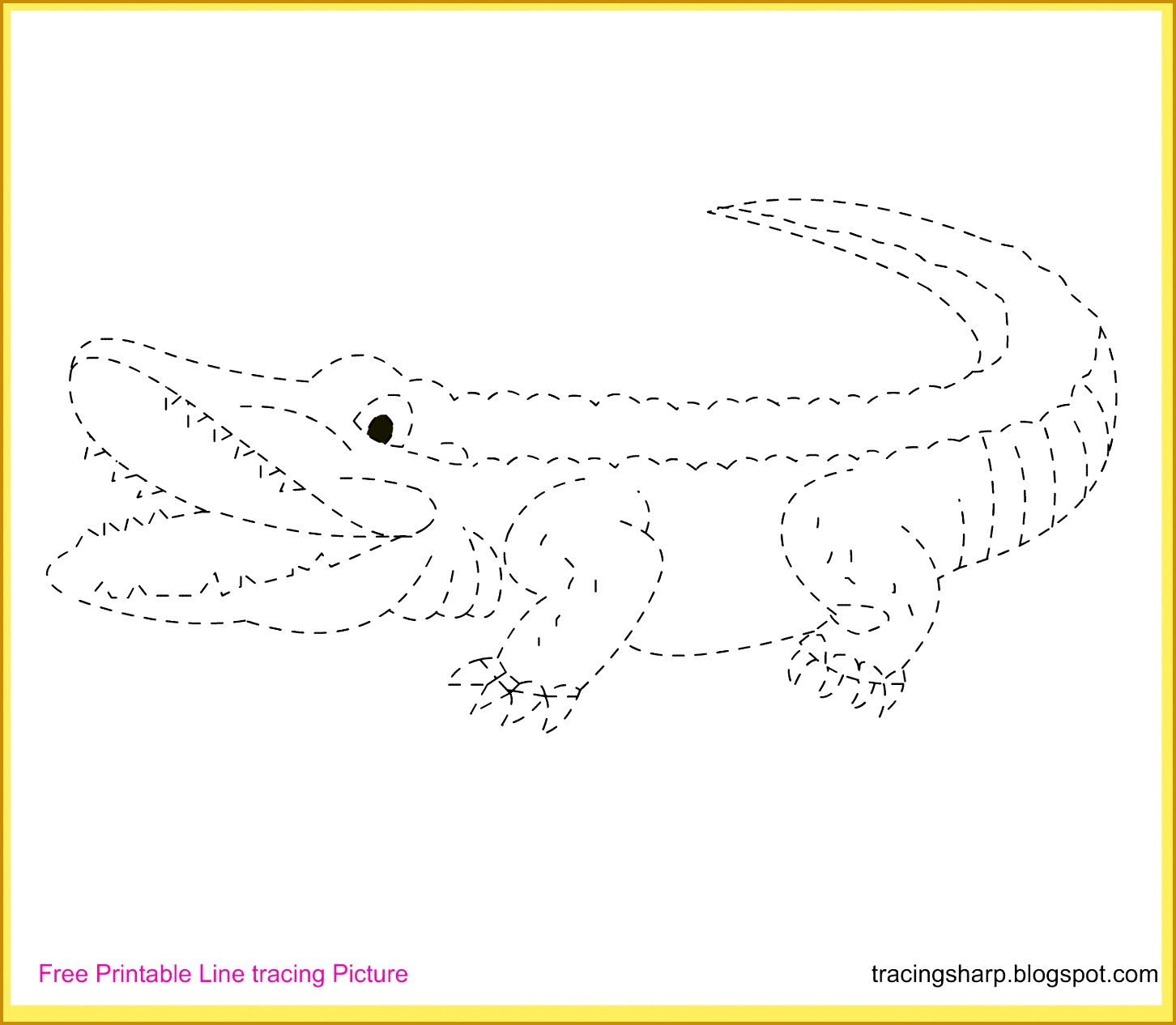 alligator line tracing picture 12661452