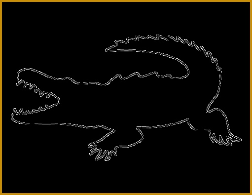 Crocodile pattern Use the printable outline for crafts creating stencils scrapbooking and 511395