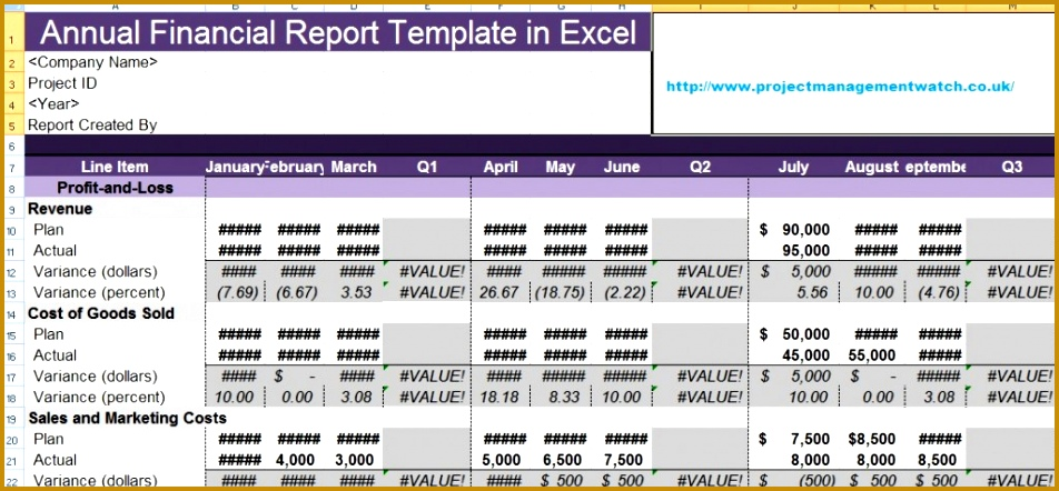 Financial Report Template Use This Financial Statement Template 952442