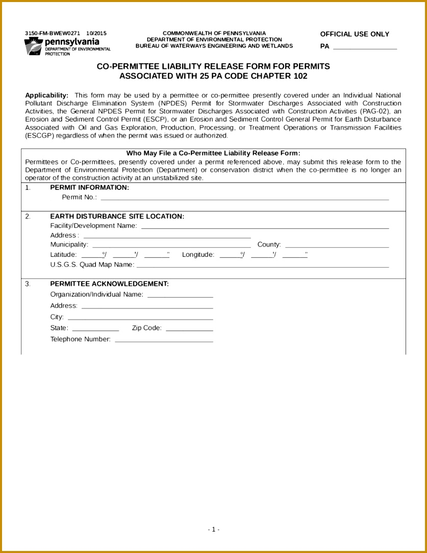 Release of Liability Form Template 03 1083837