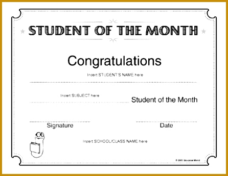 here certificate student of the month c to the document 345446