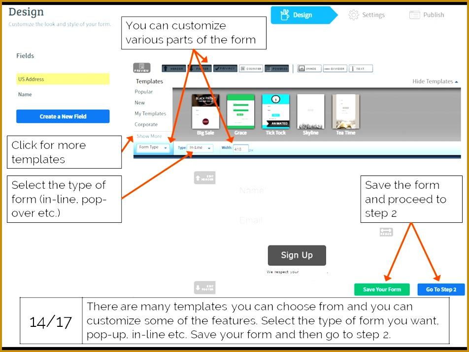 AWeber customize your sign up form AWeber Opt 714952