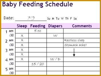 4 Baby Daily Routine Template
