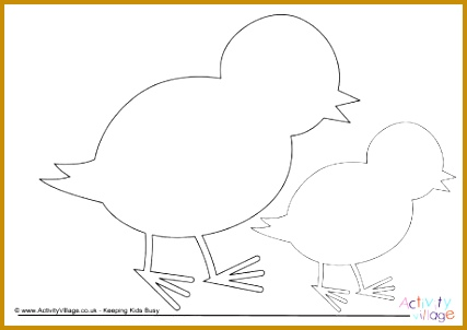 Baby Chick Template 09 302427