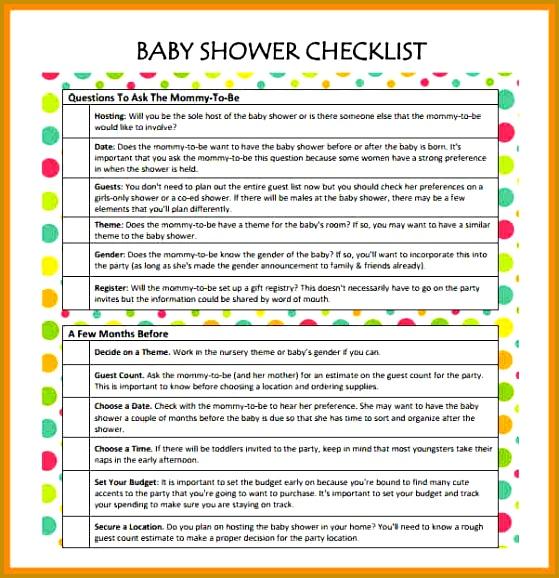 Baby Shower Checklist Baby Shower Checklist Template Baby Shower 578559