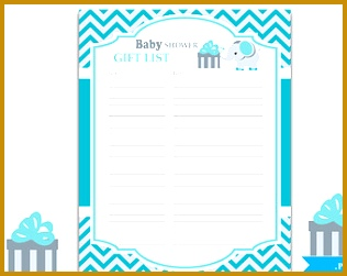 Boy Elephant Guest Gift List Guest Sign in Sheet Card for Baby shower birthday 251316