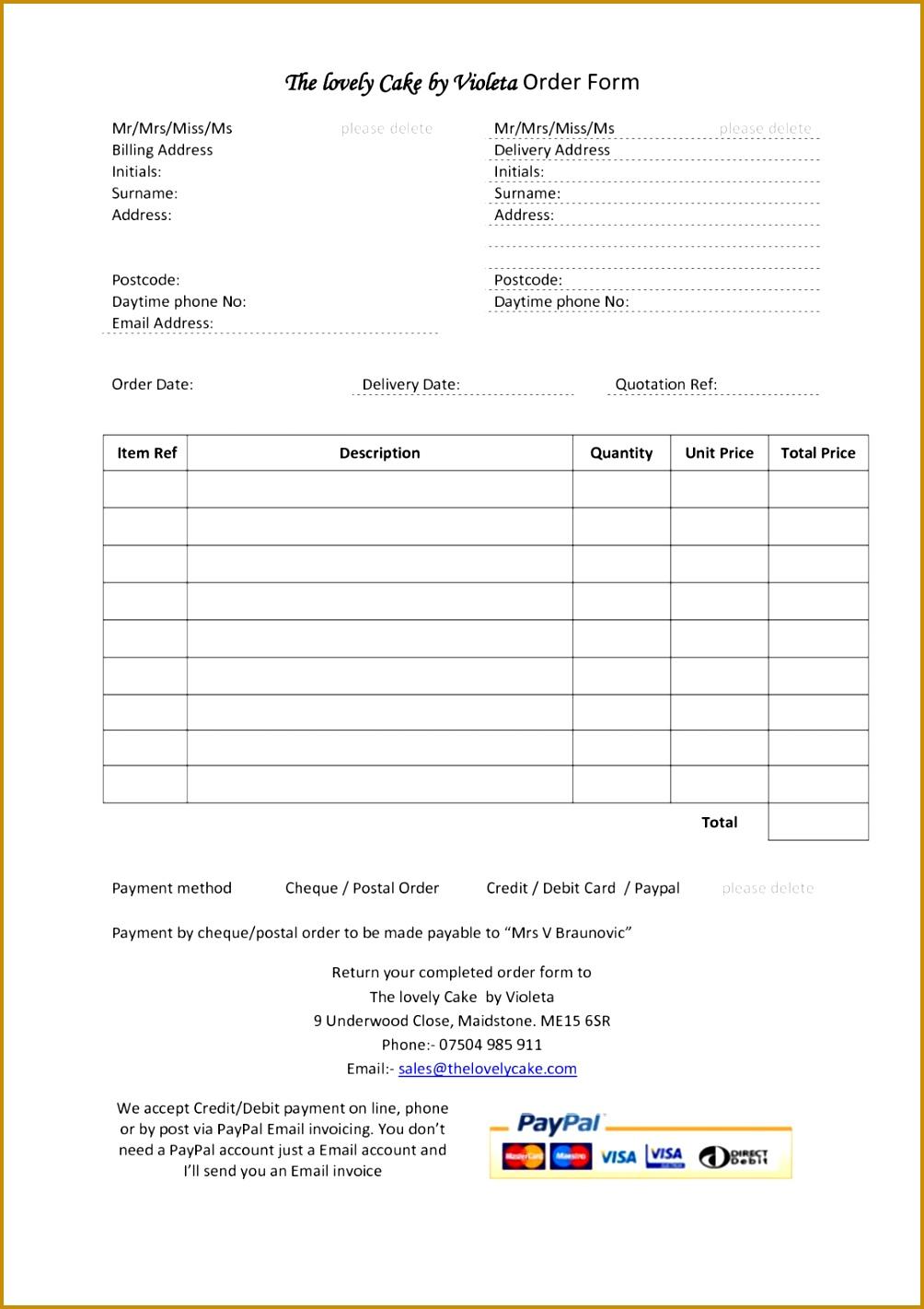 6 bakery invoice template fabtemplatez. Black Bedroom Furniture Sets. Home Design Ideas