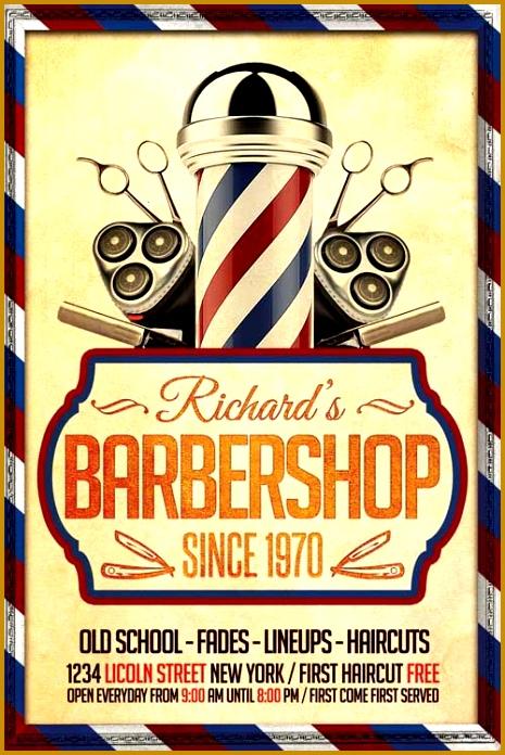 Barber Shop Flyer Template 696465