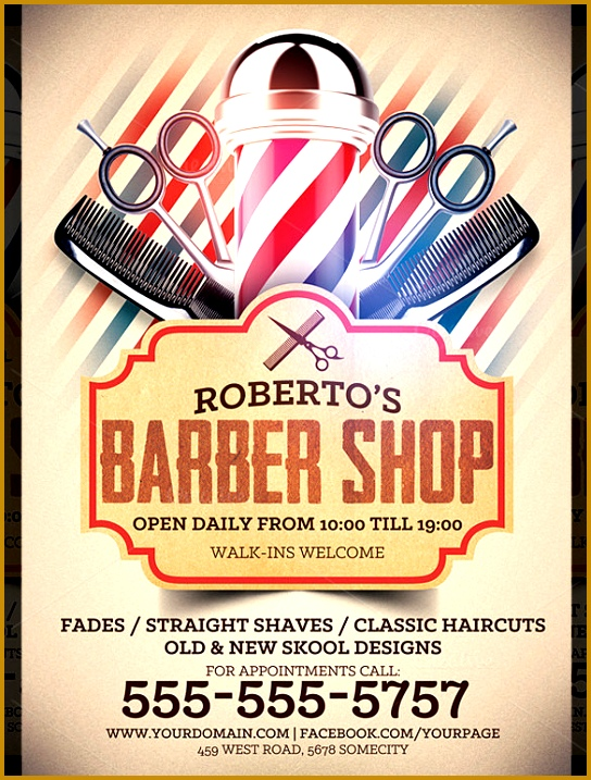 Robetro s Barber Shop Flyer Template 717544