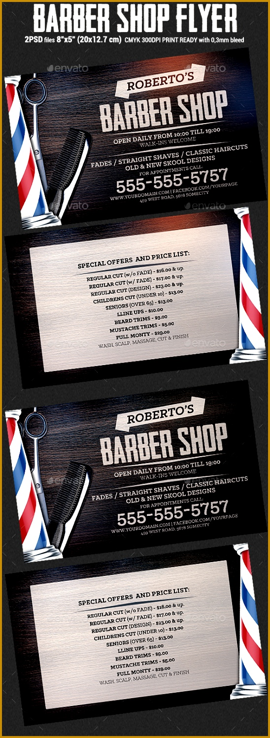 Barber Shop Flyer Template Flyers Print Templates 5481498