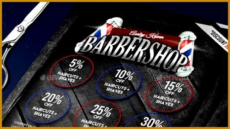 Barbershop Flyer Roll Up Banner 465262