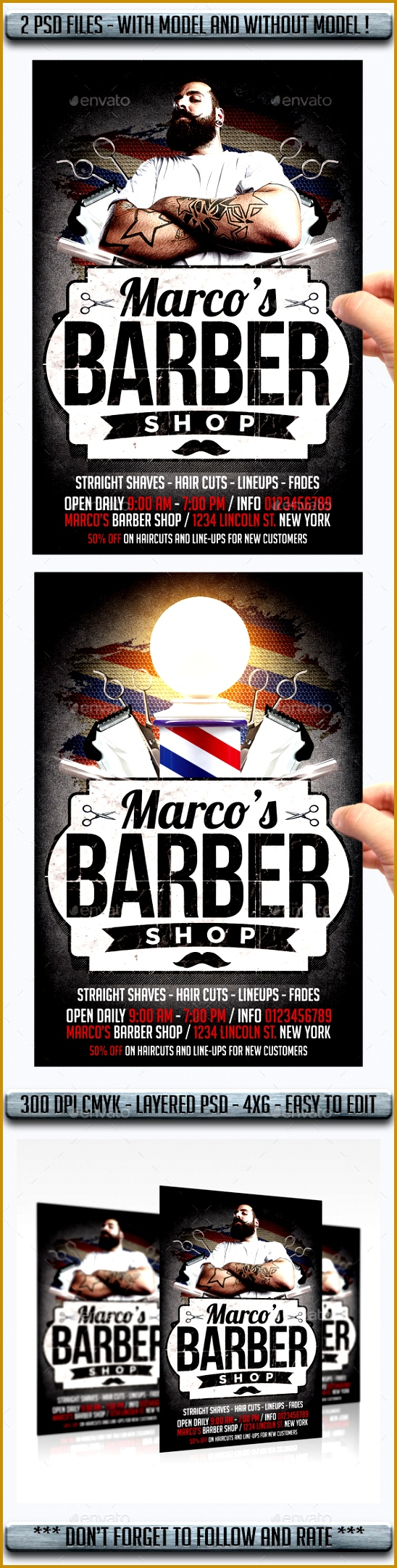 15 excellent flyer templates for your next event Barbershop 2161548