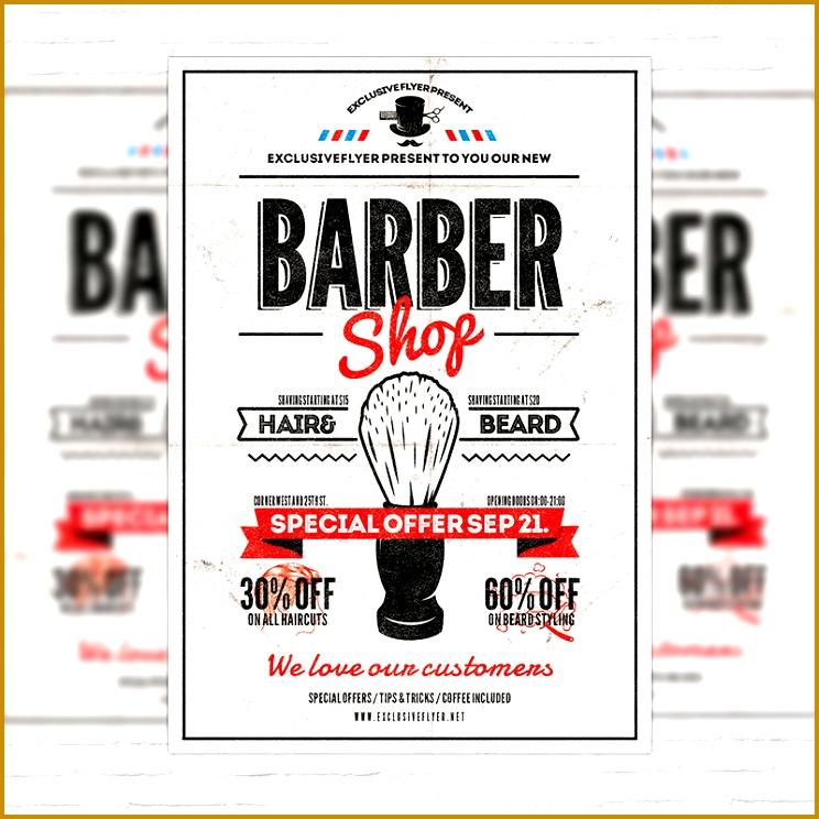 Barber Shop Vol 2 Premium Flyer Template Cover 744744
