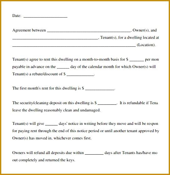 Basic Rental Agreement Download In PDF 558544