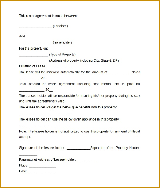 Sample Rental Agreement Letter Template 8 Free Documents In 638544