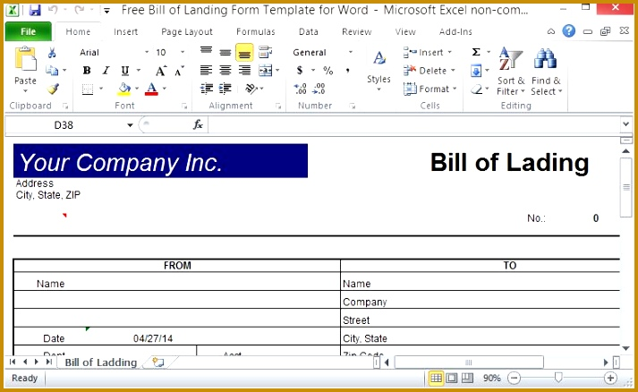 Create an ficial Bill of Lading 438713
