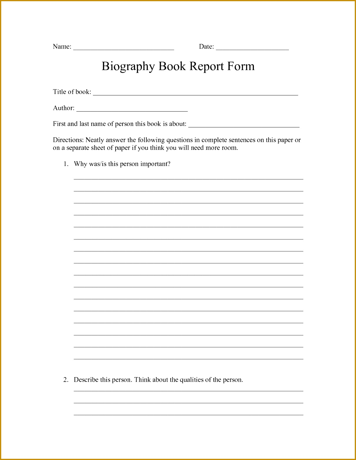 elementary biography report template biography book report newspaper 15381189