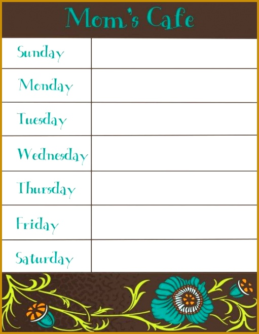 30 Family Meal Planning Templates weekly monthly bud  · Weekly Menu PlannersWeekly Menu PrintableWeekly Dinner 660511
