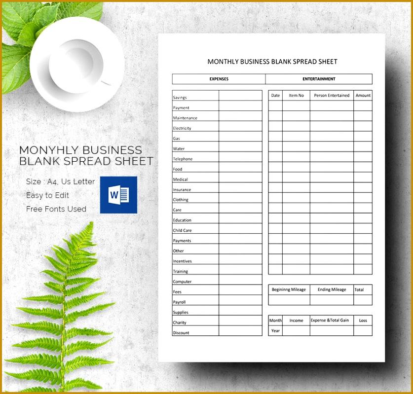 Blank Spreadsheet Template Free  Free Blank Spreadsheet Templates
