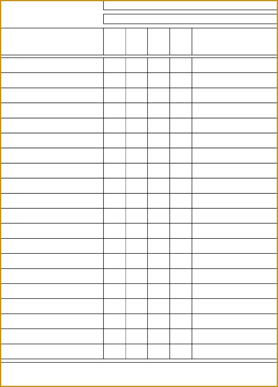 Blank Time Log Sheet Template 1347967