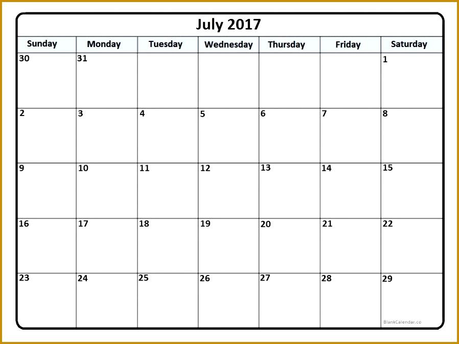July 2017 printable calendar 673898