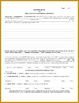 addendum form 358277