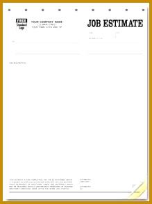 Printable Blank Bid Proposal Forms 293219