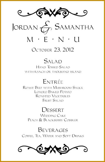 Wedding menu templates FREE 646418
