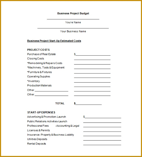Bud Proposal Template – 11 Free Sample Example Format 601544
