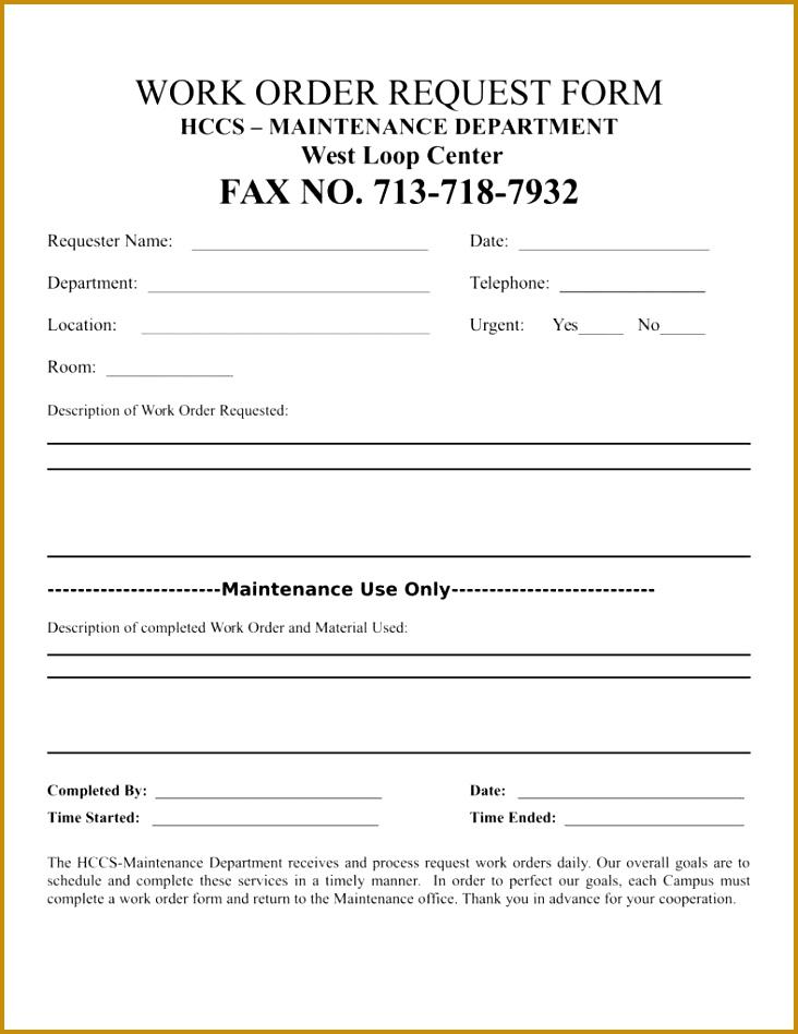 Building Maintenance Work order forms 71592 100 Maintenance Work order forms Front Matter Trb Special Tenant