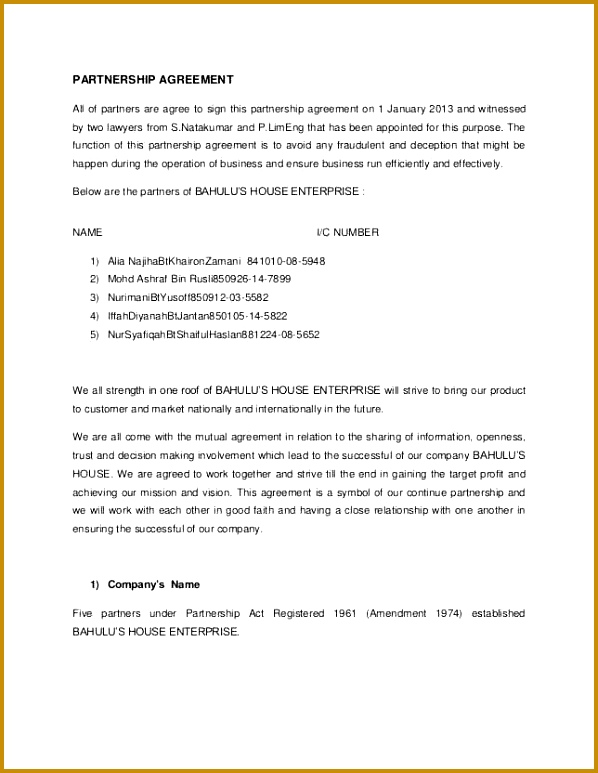 6 Business Partnership Proposal Template | FabTemplatez