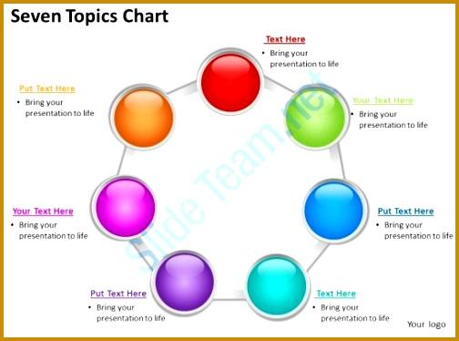 technical ppt presentation topics seven topics chart powerpoint diagrams presentation slides ideas 374504