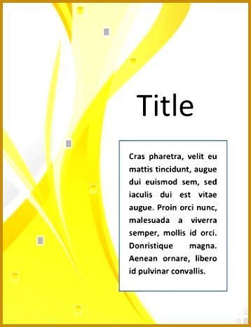 Word Documentation Cover Page Template 465358