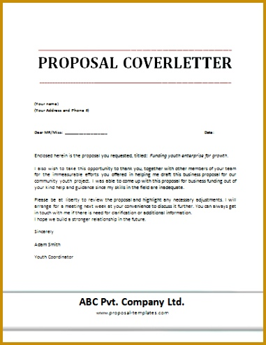 Proposal Cover Letter Template 493381