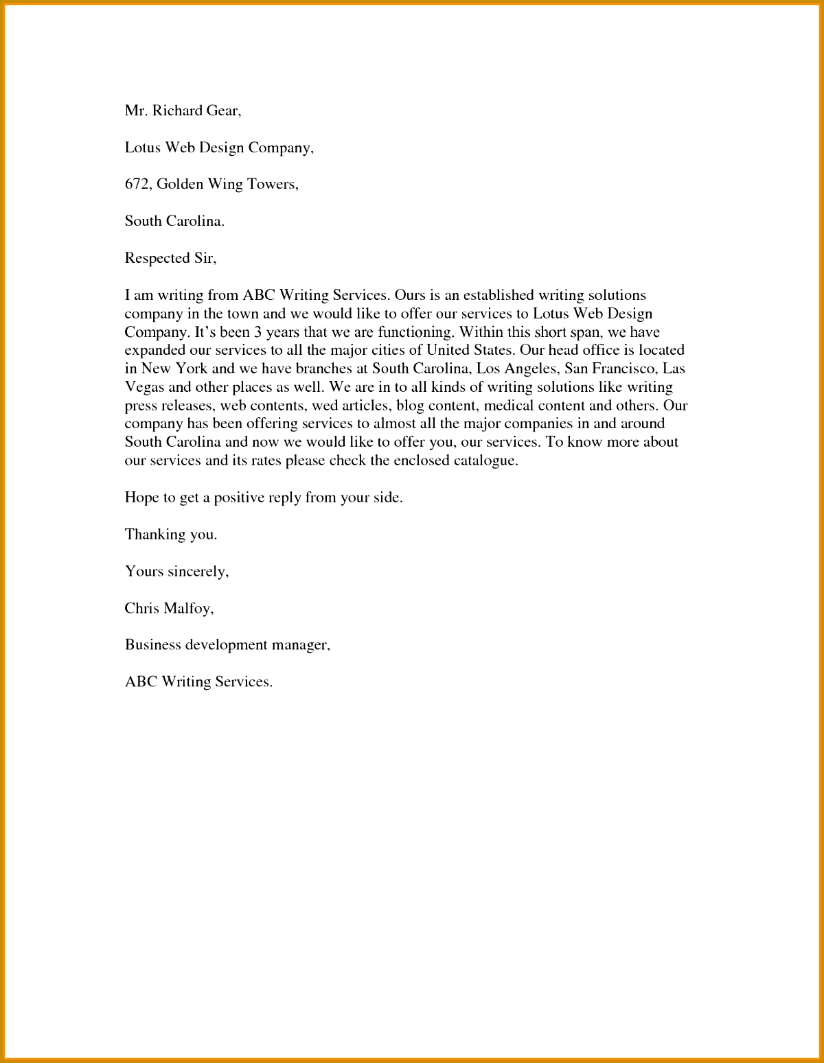 Cover letter format business proposal services professional cover letter format business proposal services how to write 12001549