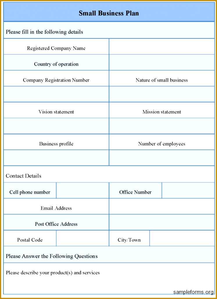 Small Business Plan Outline Template pdf 1030747