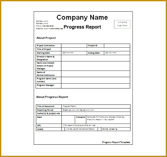 Business Activity Report Template Sample Report In Doc Free 544511