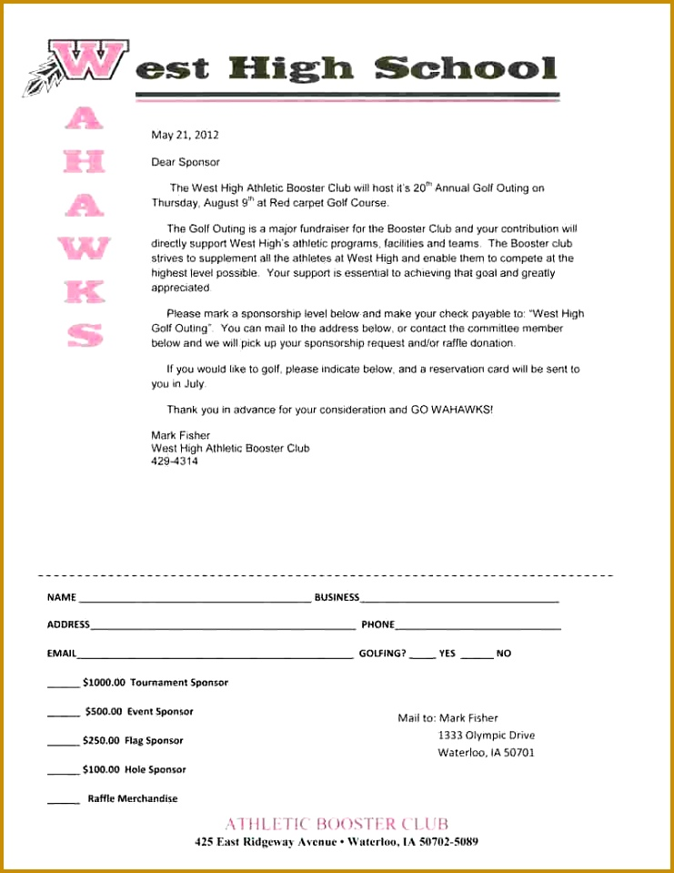 Business Proposal Templates Club Sponsorship Proposal Business Athletic Sponsorship Letter 2012 Whsabc Golf Outing Sponsor Letter 959741