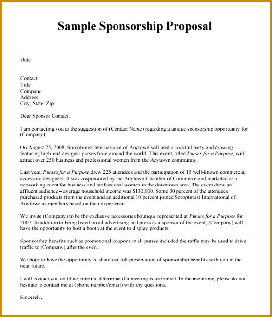 Sponsorship Presentation Template Sample Sponsorship Proposal Template 15 Documents In Pdf Word 651558