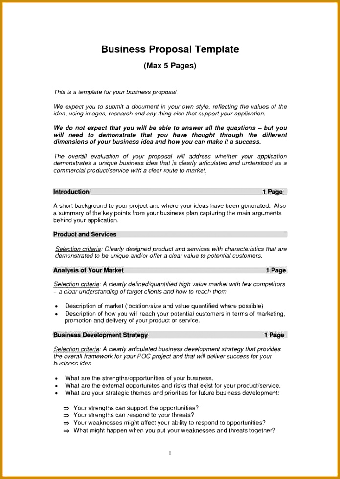 Business Strategy Proposal Template 9 Free Business Proposal Template Proposal Template 2017 979695