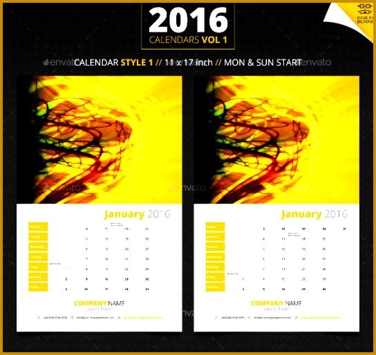 Sample Design 2016 Calendar Template 514544
