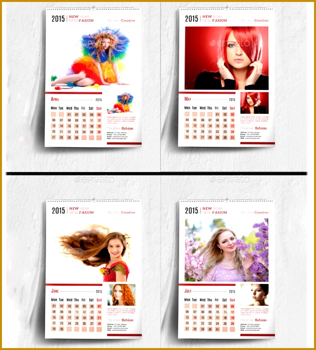 6 Calendar Sample Design | FabTemplatez