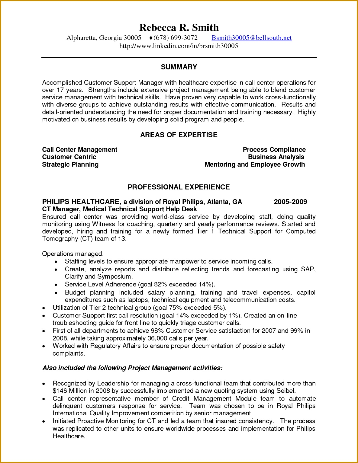 Awesome Collection of Sample Resume For Call Center Representative Form 15341185